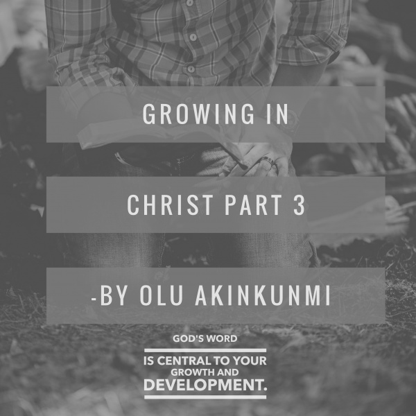 Growing in Christ Part 3 By Olu Akinkunmi